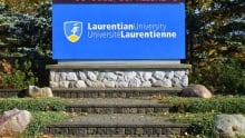 Laurentian University sign