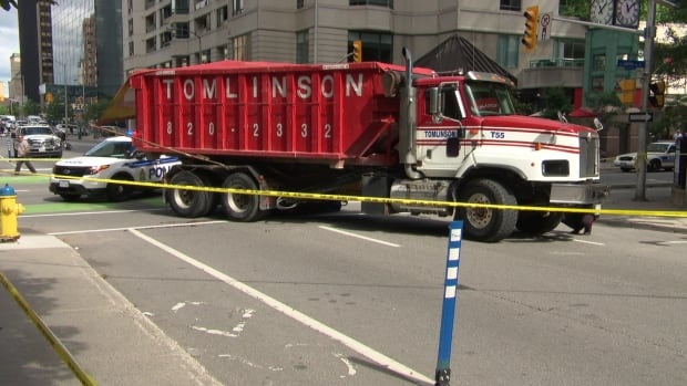 The dump truck involved in the collision that killed cyclist Nusrat Jahan, 23, didn't have side guards.