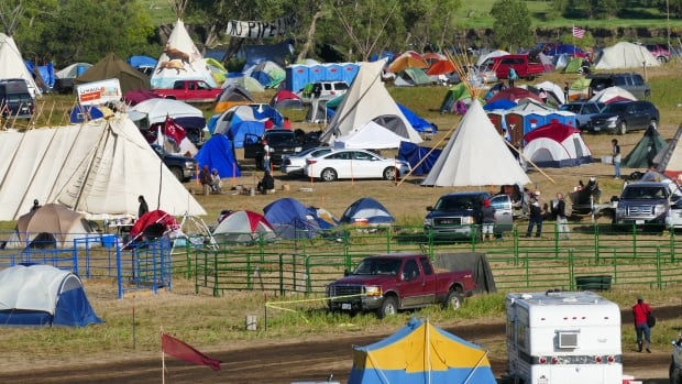 Red Warrior Camp in southern North Dakota was set up to back the Standing Rock Sioux Nation's fight against an oil pipeline, and has swelled as thousands show up in support.