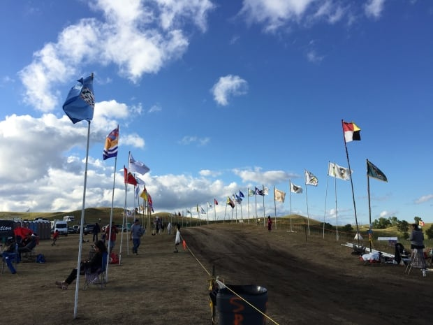 Flags at Standing Rock
