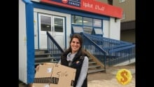 Iqaluit post office with amazon package