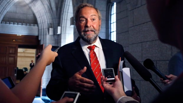 Tom Mulcair's NDP is struggling against a Liberal Party trying to crowd it out on the left.