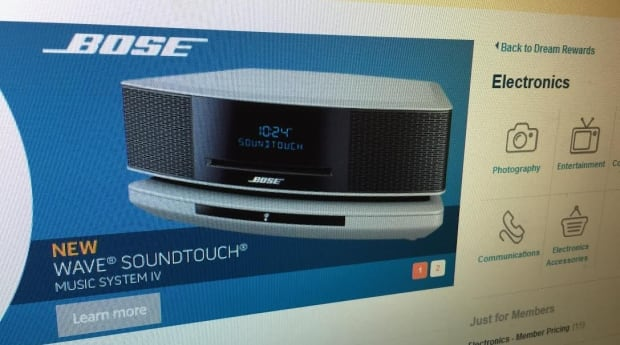 Bose music system Air Miles
