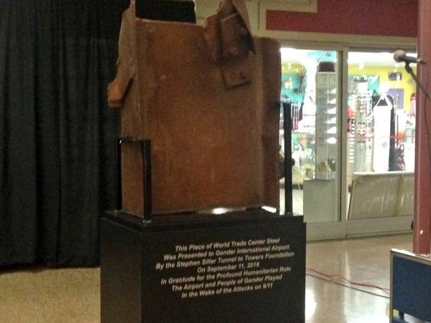 WTC beam at Gander airport
