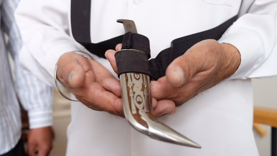 Kirpans are ceremonial daggers worn by Sikhs. As of Nov. 27, they will be permitted on most flights out of Canada, so long as they are shorter than six centimetres. The dagger that is pictured here would not be permitted as it's too large.