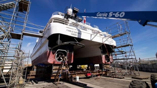 The V2V Vacations vessel is undergoing a major refit at the Point Hope Maritime shipyard in Victoria.