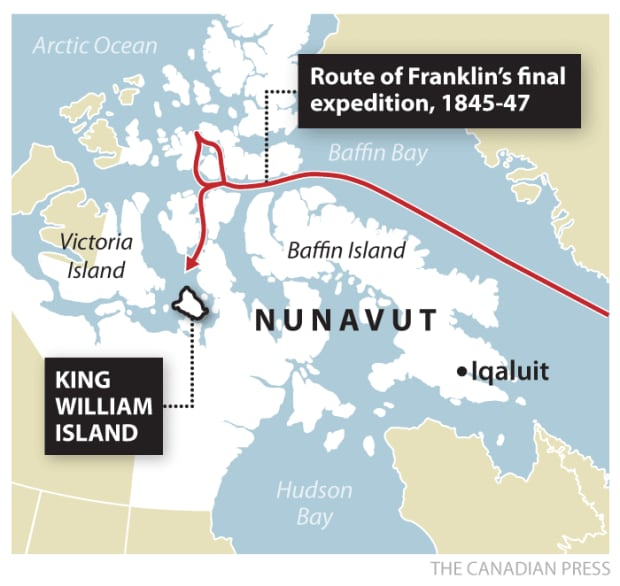 route of franklin expedition