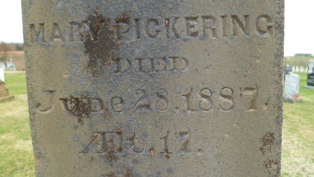 Mary Pickering Tuplin's grave, where her remains have now been re-united.
