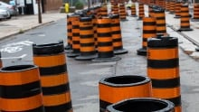 Road construction pylons