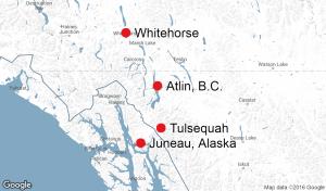 Tulsequah mine map