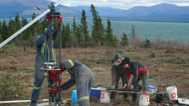 Researchers collected permafrost core samples around various Yukon communities, to determine areas where it's most stable.