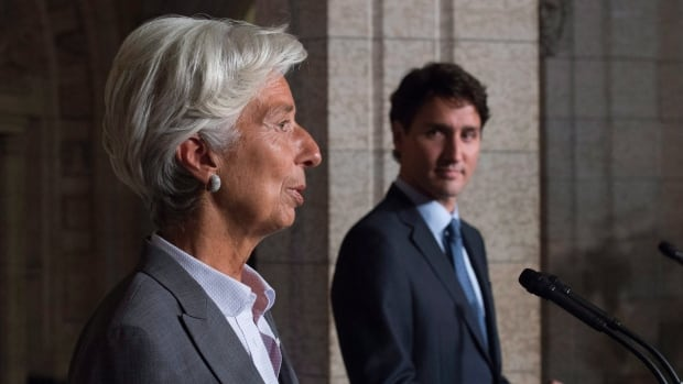 The International Monetary Fund, headed by Christine Lagarde, expects Canada's economy to grow by 2.5 per cent this year. That's an upgrade from the group's projection in April.