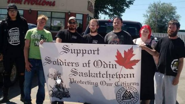 A Facebook page had this photo of a Soldiers of Odin Saskatchewan chapter.