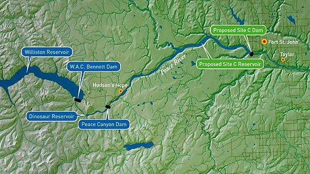 BC Hydro's Site C Map