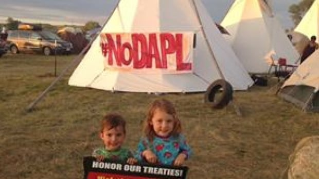 Erica Ryan-Gagne and her two children drove 30 hours from Haida Gwaii, B.C. to protest against the Dakota Access Pipeline [DAPL] in North Dakota.