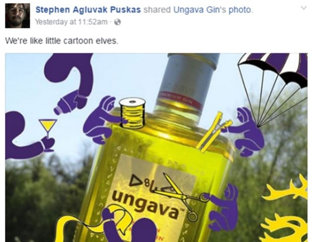 Ungava gin - Puskas FB post