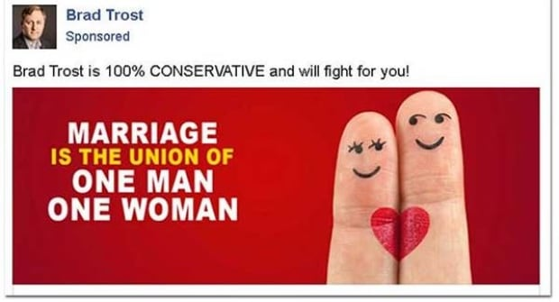 conservative leadership candidate launches online attacking same marriage
