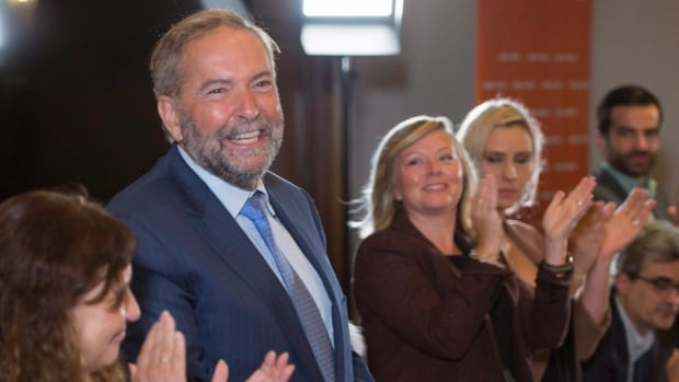 NDP leader Tom Mulcair said he has the unanimous support of NDP MPs to stay in his position at the head of the party and face off against Prime Minister Justin Trudeau.