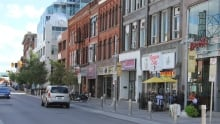 Downtown Kitchener storefronts