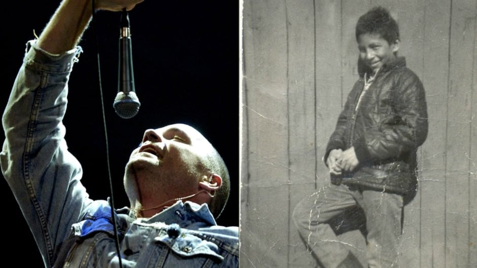 Gord Downie's (left) latest project, Secret Path, was inspired by the story of Chanie Wenjack (right).