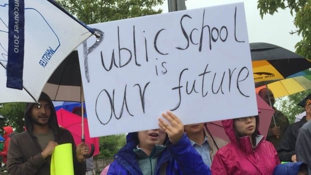 Richmond parents, students and teachers protested the potential loss of a school earlier this year, after the Richmond School Board announced at least five would have to be closed because of the requirement a school be at 95 per cent capacity.