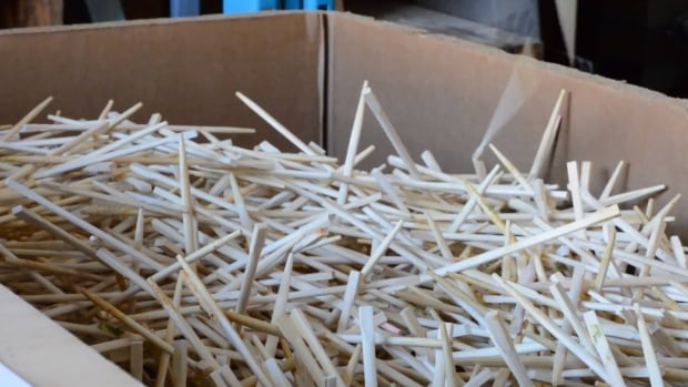 There's an estimated five tons of chopsticks consumed in Metro Vancouver each day, and UBC's Felix Böck has turned them into living room decor.