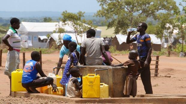 Water refugee camp Uganda