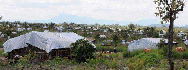 Houses Pagirinya refugee camp Uganda