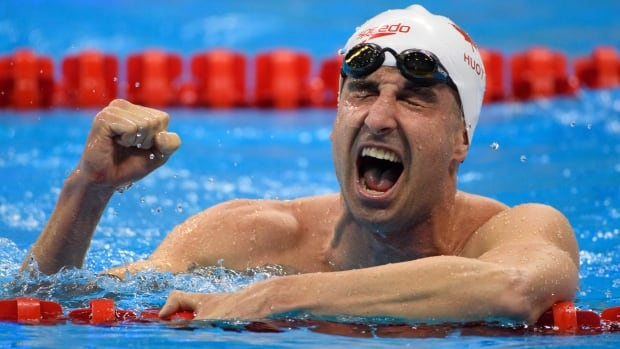 Benoî​t Huot, a nine-time gold medallist and Paralympic swimmer pictured here winning the bronze medal in the men's 400-metre freestyle in Rio, is a new member of the Order of Canada. (Al Tielemans/IOC/AFP/Getty)
