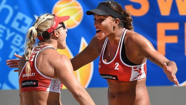Heather Bansley and Brandie Wilkerson, playing in their first international beach volleyball event together, lost in three sets to world No. 1 Laura Ludwig and Kira Walkenhorst in a first-round elimination match at the World Tour Finals in Toronto on Friday. Fellow Canadians Jamie Broder and Kristina Valjas also failed to reach the quarter-finals.