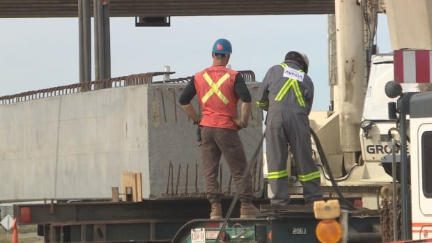 Saskatchewan is banning workers with Alberta plates from all new road projects.