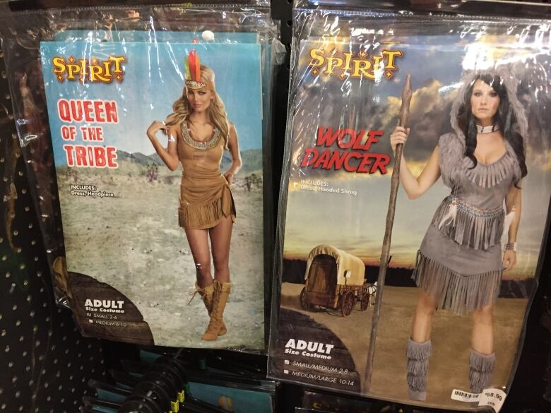 queen of the tribe and wolf dancer are just some of the many costumes on sale at spirit halloween that some people in winnipeg are calling offensive to