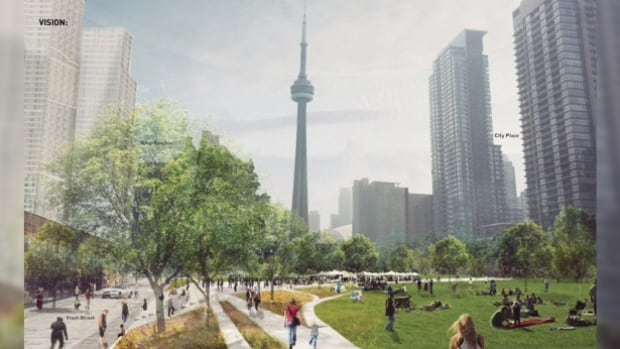 Mayor John Tory says it's a 'false choice' between the proposed Rail Deck Park and other priorities.