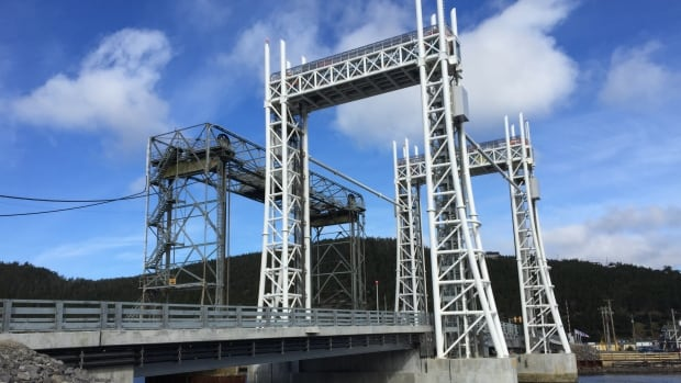 The Sir Ambrose Shea Lift Bridge in Placentia was closed to traffic Sunday evening into Monday morning.