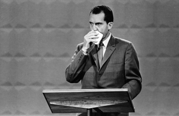 Nixon in debate against Kennedy