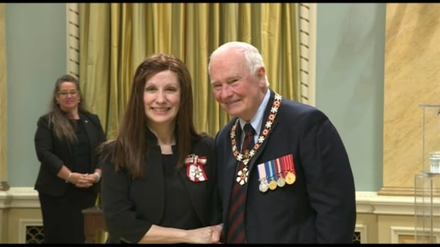 Faye Thomson and Gov. Gen. David Johnston