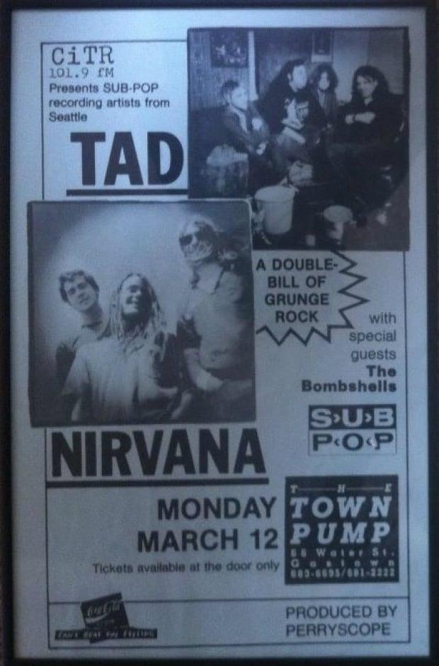 Nirvana live at the Town Pump