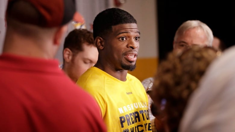 P K  Subban's Nashville debut delayed by injury | CBC News