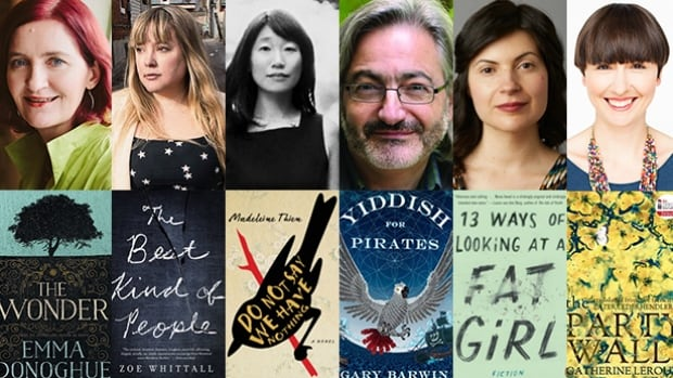 Six writers have made the shortlist for the 2016 Scotiabank Giller Prize - two are debut novelists and all are first-time finalists for the $100,000 award.