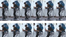 Patient in the exoskeletons