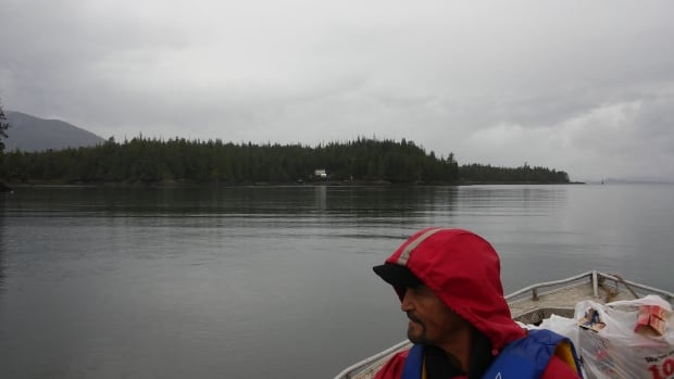 Lax Kwa'laams fisherman Ken Lawson has been occupying Lelu Island to keep Pacific Northwest's LNG liquefaction plant and export facility out of a key fish habitat.