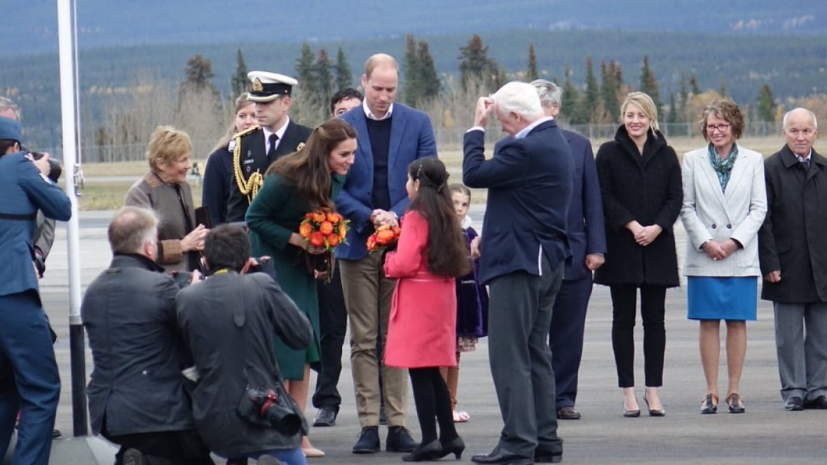 william and kate arrive in whitehorse begin yukon tour with cultural