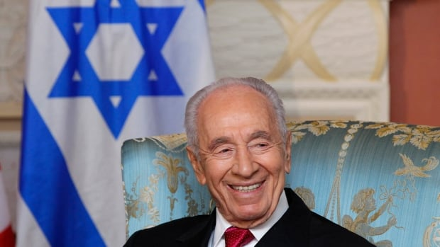 Israel's President Shimon Peres is shown at a 2012 meeting at Rideau Hall in Ottawa. Peres played a part in the country's tumultuous history for over six decades beginning with its inception, including as president, prime minister and defence minister.