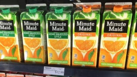 Orange juice Iqaluit, Nunavut, Food prices Arctic Sept. 27, 2016