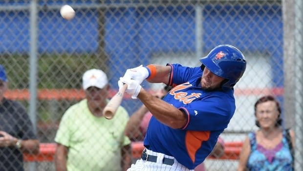 Pleasant Todays Tim Tebow Tmi Homers In 1St Pro At Bat Cbc Sports Hairstyles For Men Maxibearus