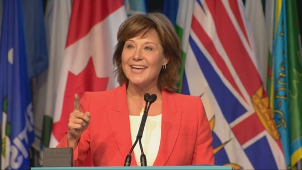 Premier Christy Clark told delegates to the UBCM convention in Victoria that B.C. is on top of the world when it comes to fighting climate change and creating 'clean' power projects.