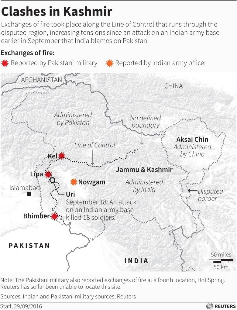 India strikes at Pakistan-based militants, escalating