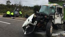 Puslinch crash highway 401 and Highway 6 north