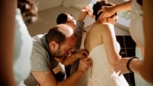 Syrian refugee helps sew bride into her wedding dress Guelph Cambridge Waterloo