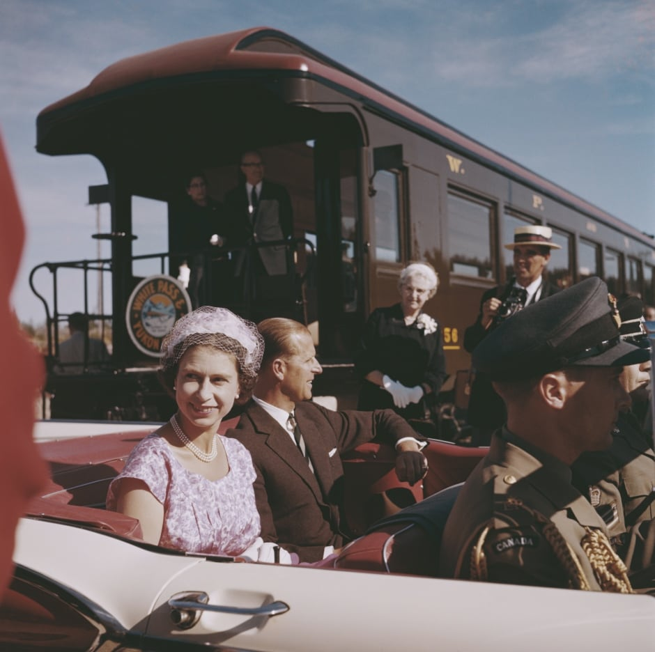 Queen Elizabeth Prince Philip royal tour Carcross Yukon 1959